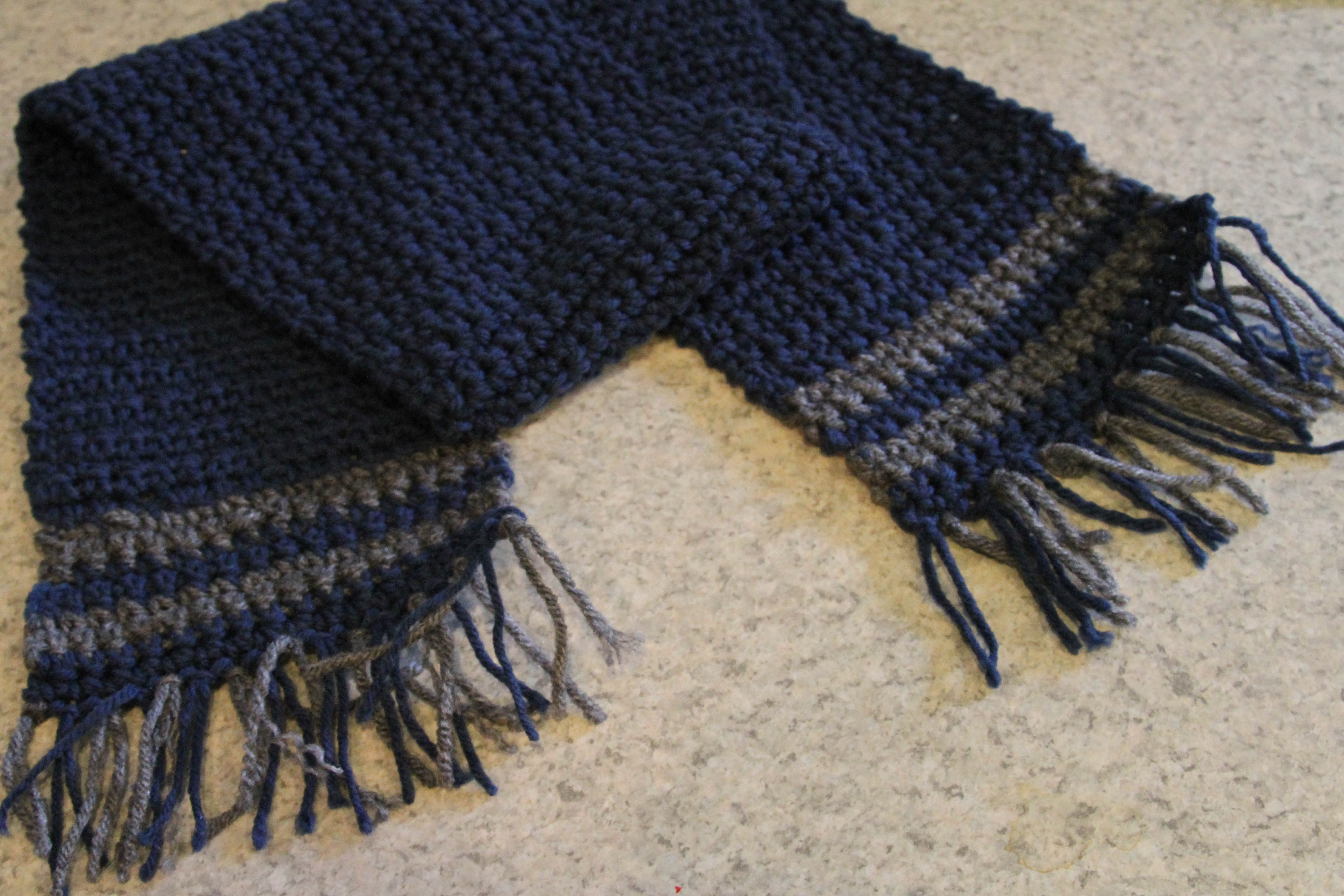 Simple Scarf With Fringe Organically Crafty