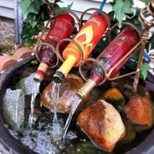 wine-bottle-fountain