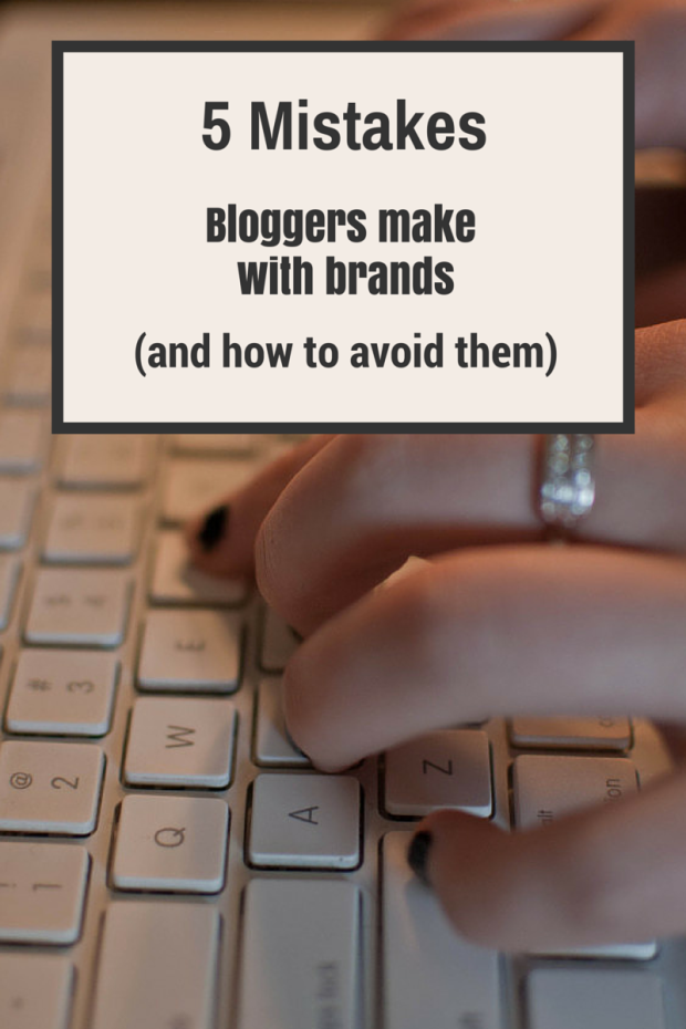 mistakes bloggers make with brands (and